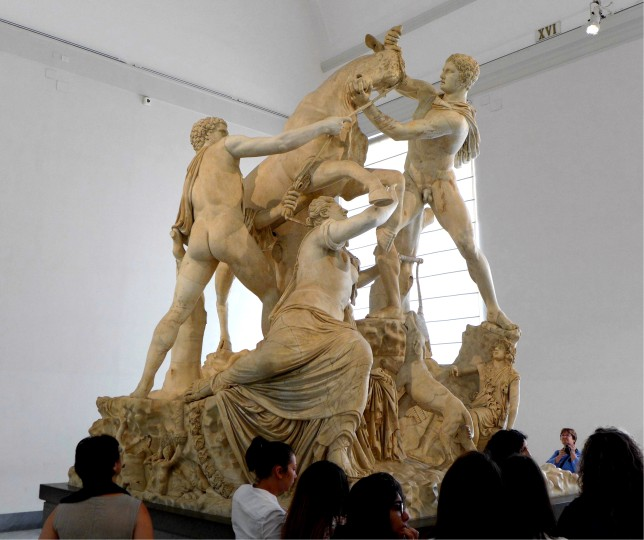 The Farnese Bull. A massive and impressive sculpture, originally carved out a single block of marble!
