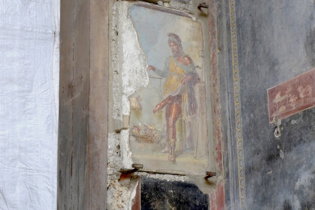 Fresco of Priapus at the House of the Vettii.