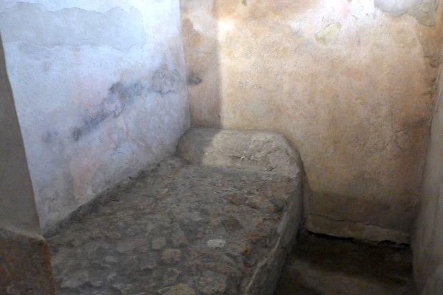 Even the 'pillow' is made of stone in the brothel