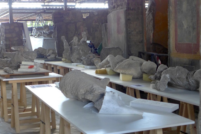None of the 'bodies' were on display. Then I saw where they were being renovated. Lots of them. Intense...