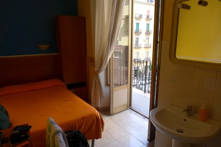 Home in Naples, my single room with balcony.