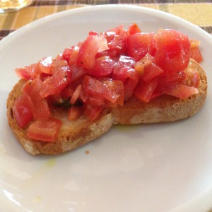 Bruschette with tomatoes