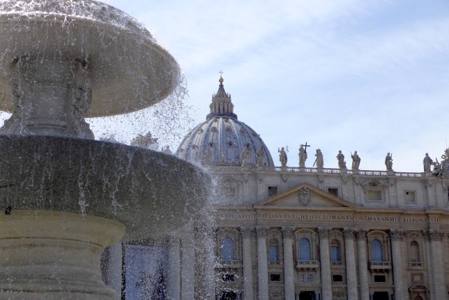 Fountain in front of St. Peter's Basilica