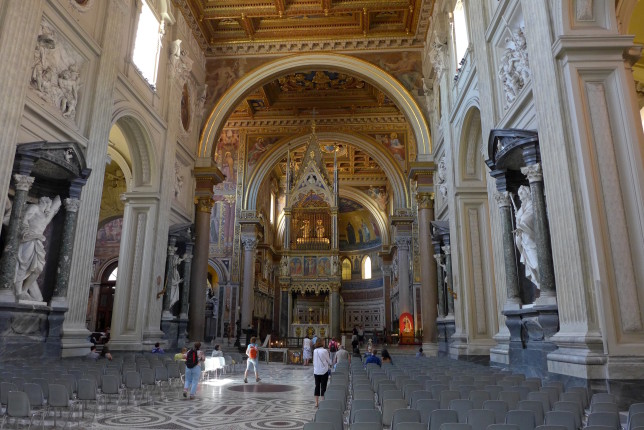 Inside San Giovanni in Laterano