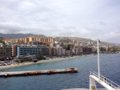 View of Messina from the ferry