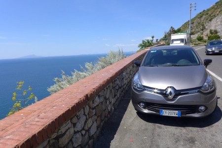 My rental car on the way to Sorrento