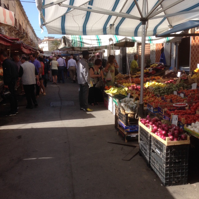 Part of the market in Ortigia