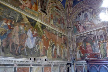 Frescoes in one of the rooms.