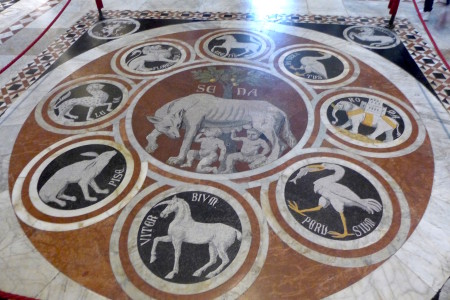 City seals in the floor