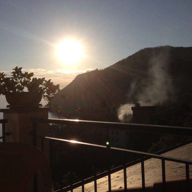 Sunset from hotel terrace