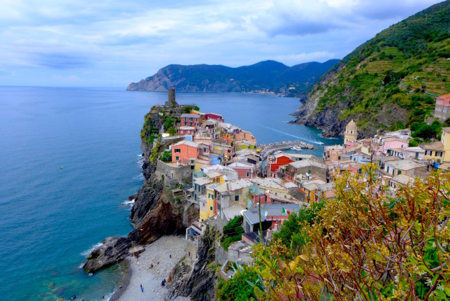 The view leaving Vernazza is even better!