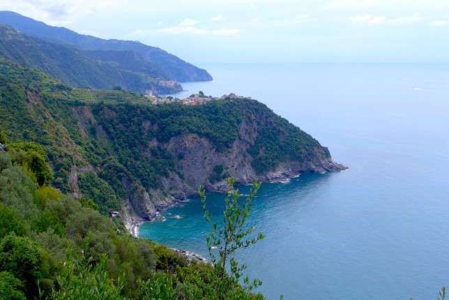 Corniglia in the distance