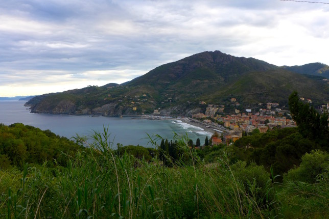 Looking back at Levanto from the trail
