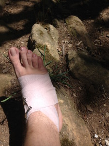 Ankle not doing well, time to wrap it