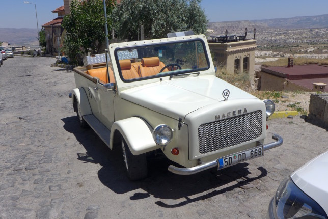 Cool car parked in Uchisar
