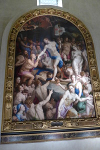A Bronzino painting in the art gallery at Santa Croce