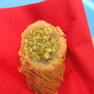 Tasty pistachio item in the Lebanon Pavilion