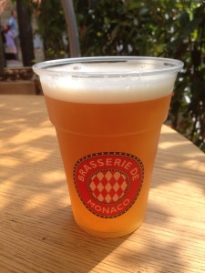 Beer from the Monaco Pavilion