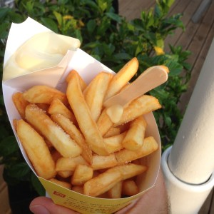 Fries at the Belgium Pavilion