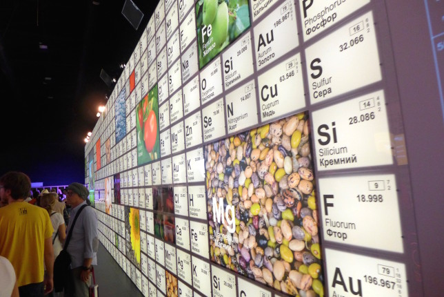 View of part of the Periodic Table wall