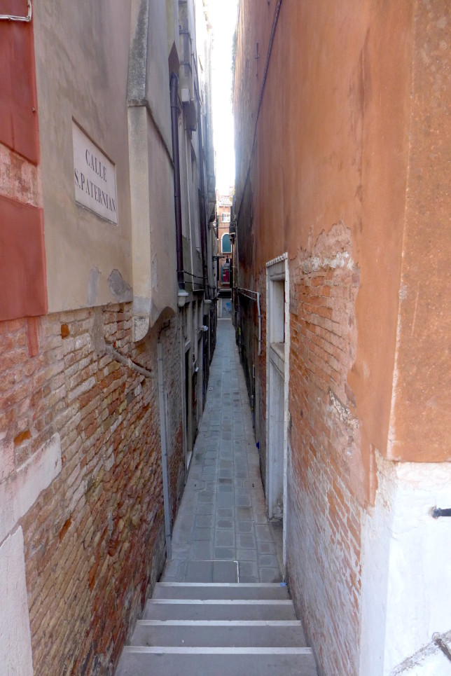 Some streets are extremely narrow