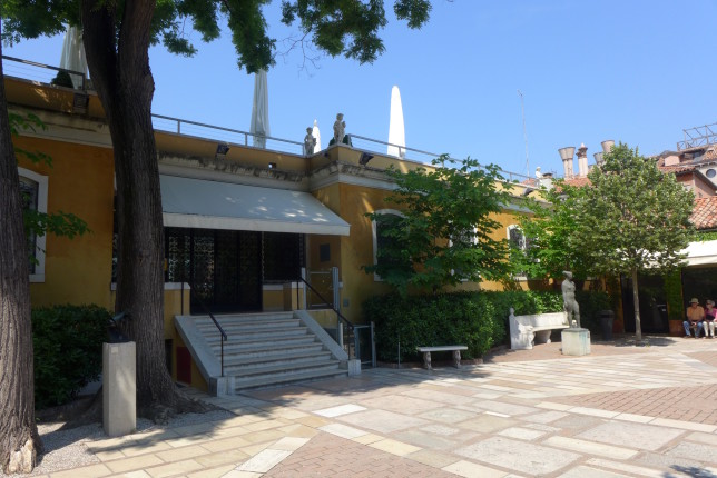 Interior courtyard at the Peggy Guggenheim Collection