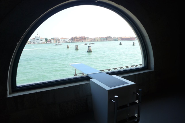 A cool art installation at Punta della Dogana