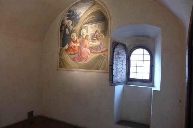 Convent room with fresco