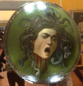 A cool Medusa shield by caravaggio
